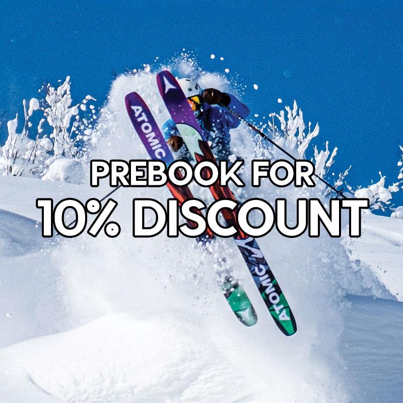 Prebook for 10% discount
