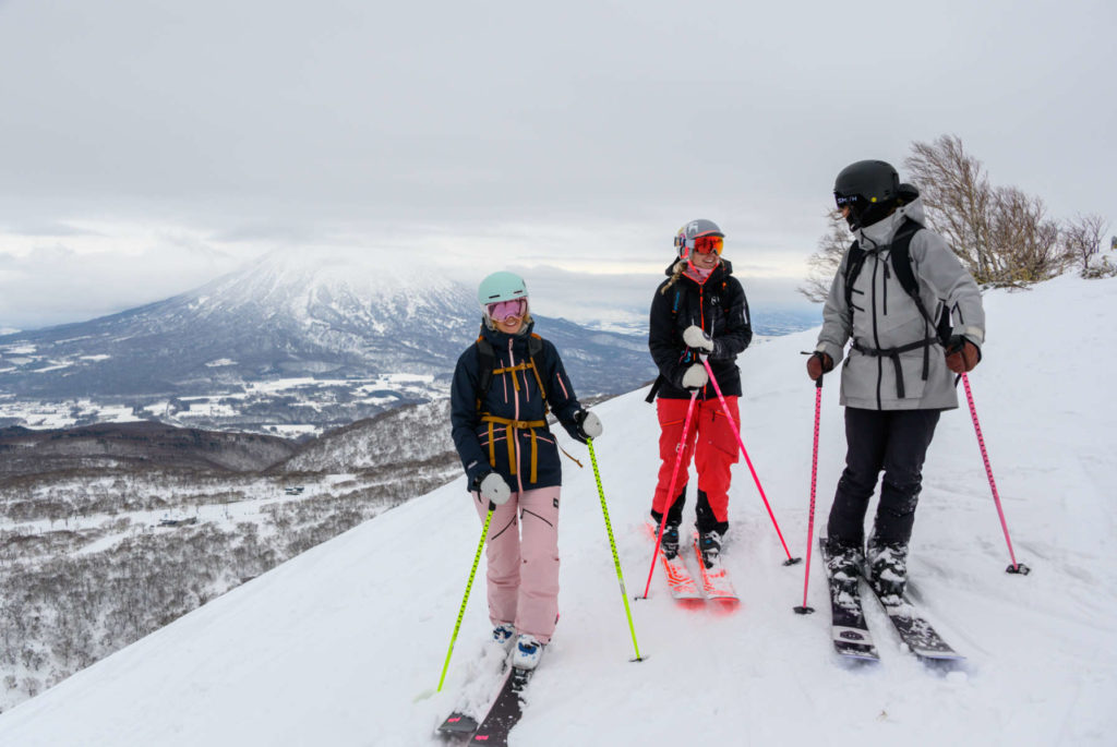 Our three testers in the Niseko backcountry.