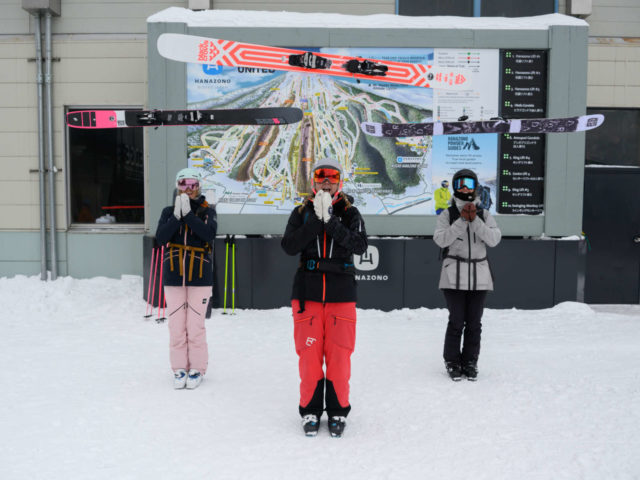 Chicks in Charge. Putting Powder Specific Women's Skis to the Test.